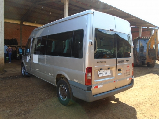 LOTE 03: MICROONIBUS FORD TRANSIT 350L BUS, ano e modelo 2010, placas MIC 3116