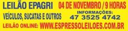 04 DE NOVEMBRO,  GRANDE LEILÃO DA EPAGRI, SC.**